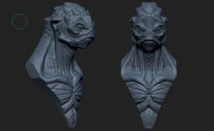 Lizard Bust by EddieMunoz