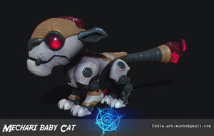 Mechari Baby Cat Zbrush Render