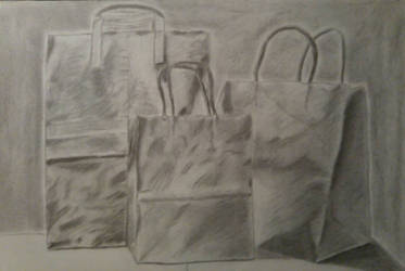 Three Shady Paper Bags by Marroak