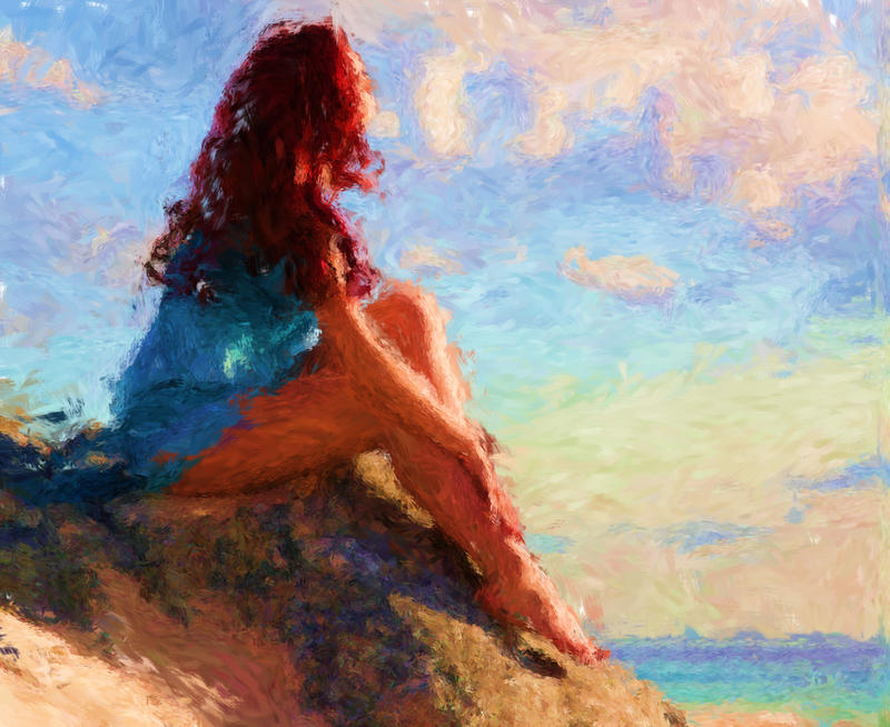 Zena na slikarskom platnu The_call_of_the_sea_by_musabenedetta-d34klhw
