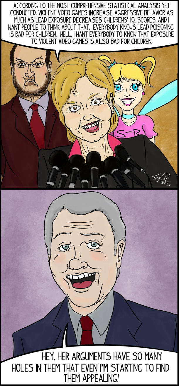Self-Righteous Prick Fairy-Clinton's Huge Phallusy by sbkMulletMan