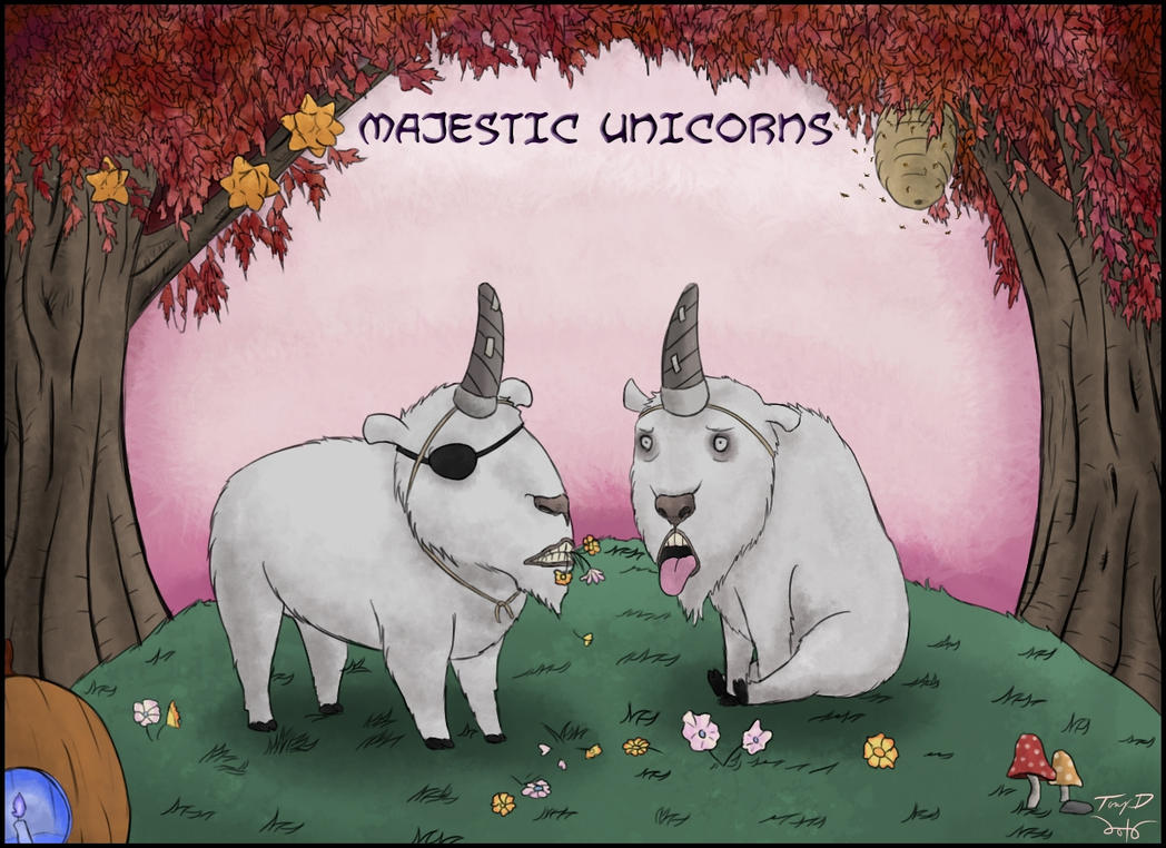 Majestic Unicorns by sbkMulletMan