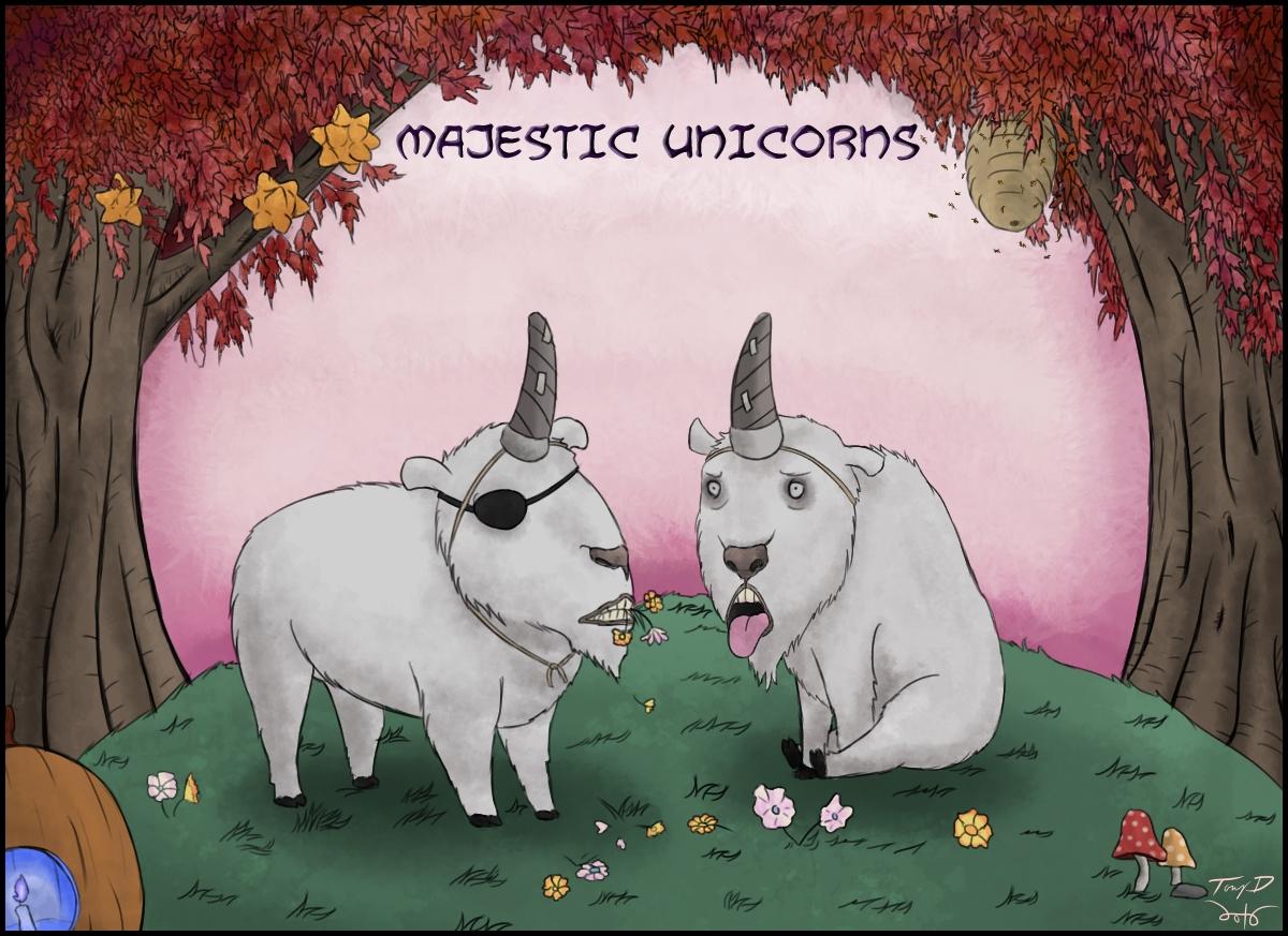 Majestic Unicorns by sbkMulletMan