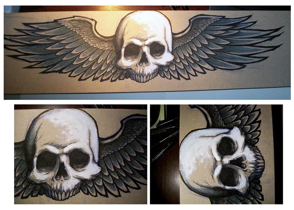 Skull N Wings by d-X2