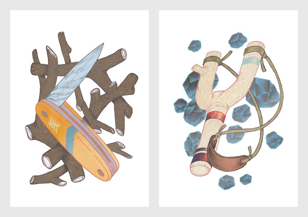 Survival Kit | Pocket Knife and Slingshot by d-X2