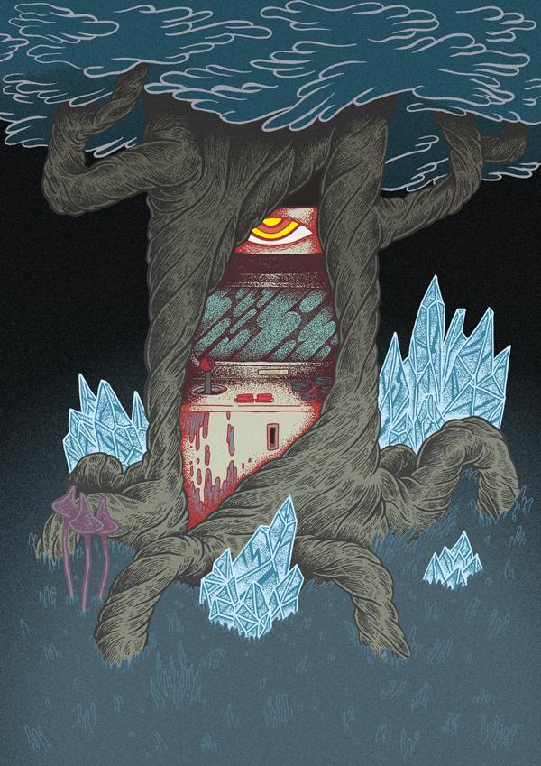 Arcade Deus Of Dark Forest by d-X2