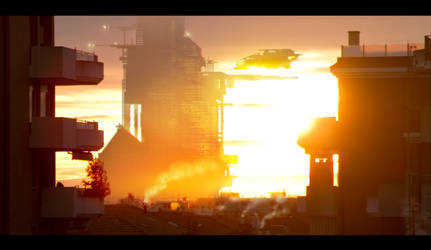 sunset city by D4N13l3