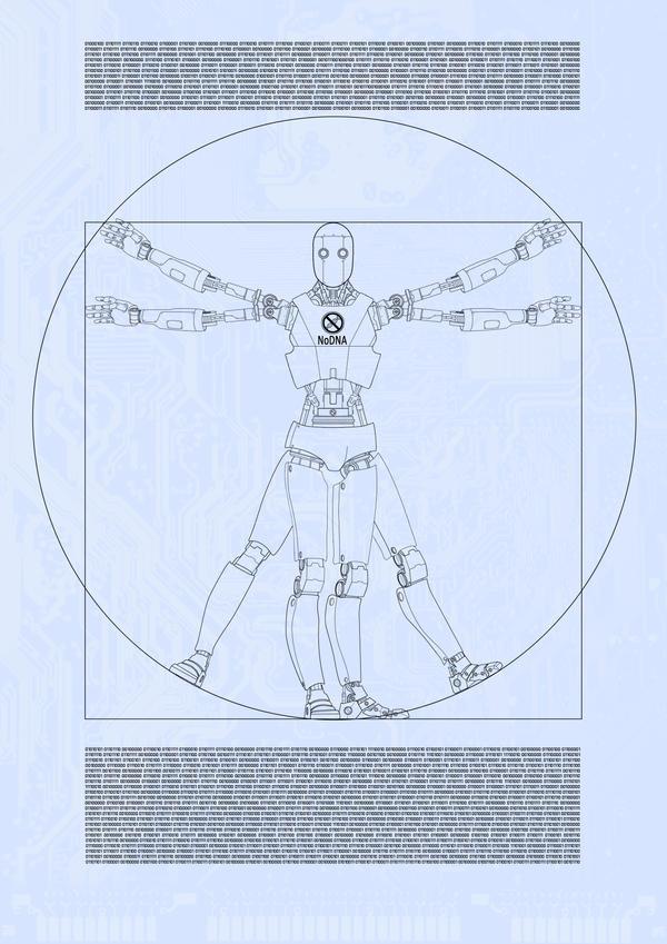 Vitruvian Robot by D4N13l3