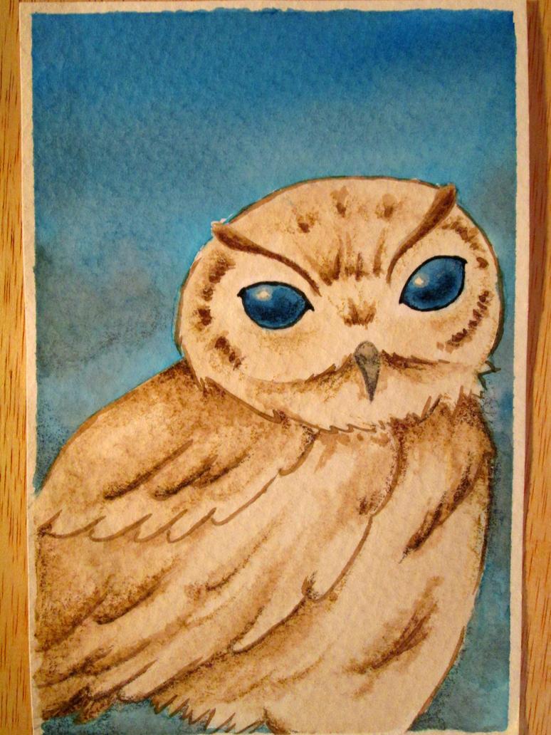 Watercolor practice - Owl by crissygim