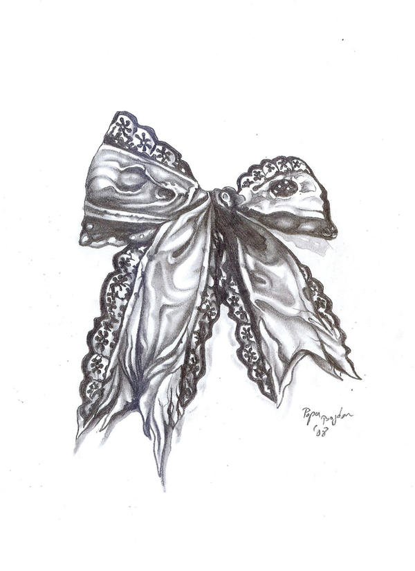 Lace Bow Drawing at GetDrawings | Free download  |Bow Tattoo Sketches