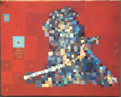 Samurai Modern Paintiing by art-zuza