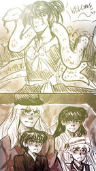 Seven Man Circus- Sketch Jakotsu Arival by MMHinman