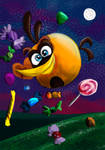 Bubbles - orange bird