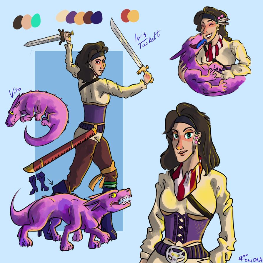 Character Sheet: Iris Tackett by Fonora