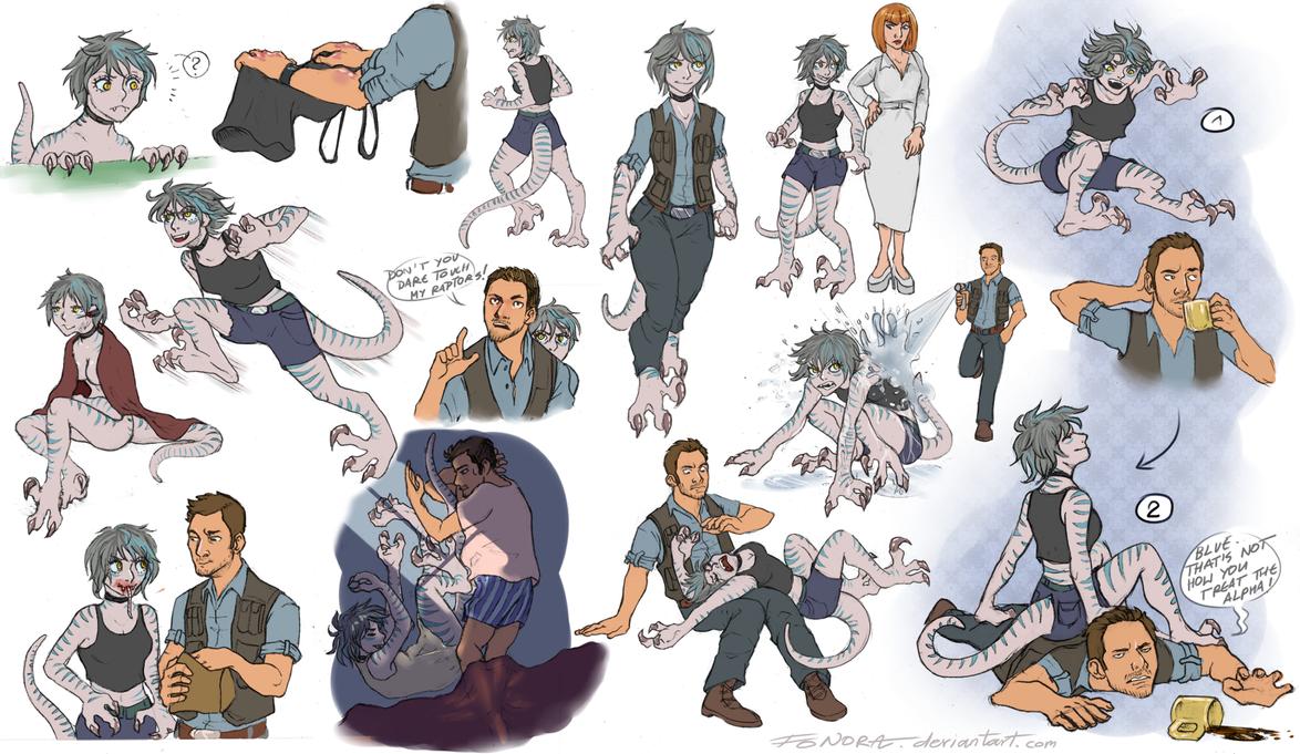 Humanized Blue - doodles by Yohiri on DeviantArt