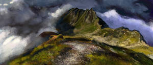 environment practice - mountain range