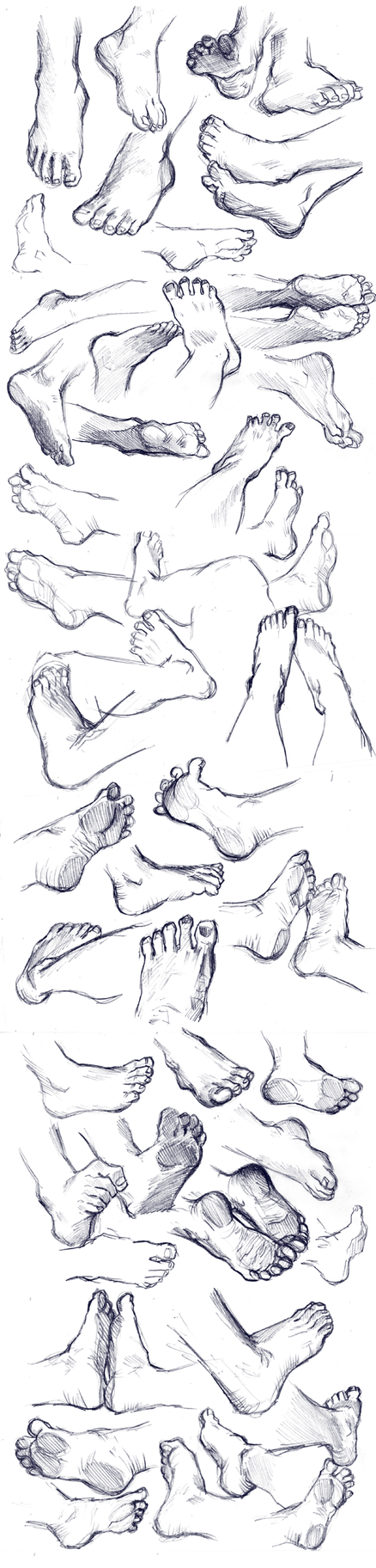 Feet Study by Yohiri