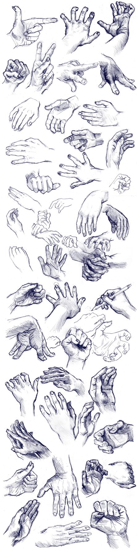 Hands Practice by Yohiri