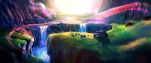 environment - cold waterfalls