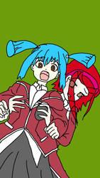 Aki and Ruka in school