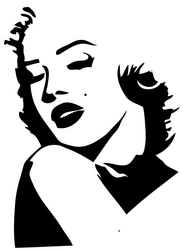 Marilyn Monroe Face Stencil Pictures to Pin on Pinterest ...