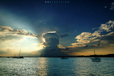 Color of A Cloudy Sunset 25 by dearchivism