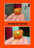 polymer clay kawaii cupcake charm by kellykim1982