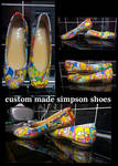 hand decorated simpson shoes by kellykim1982