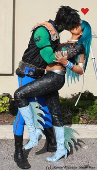 ReBoot cosplay: Matrix and AndrAIa Kiss