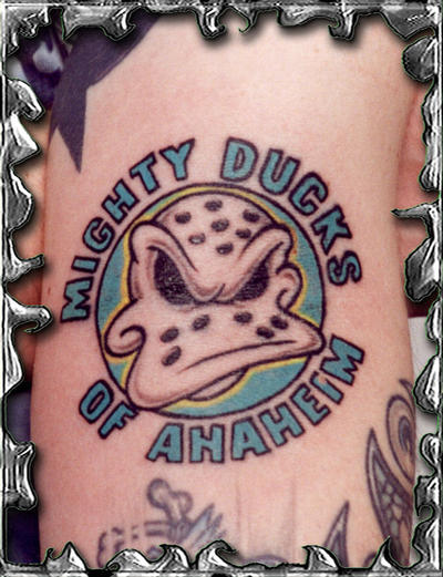 Anaheim ducks tattoo for Tattoo shops in anaheim ca