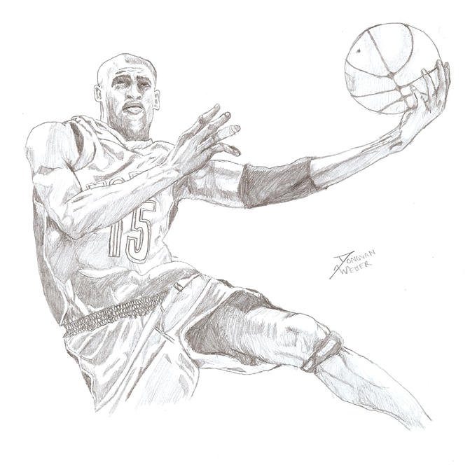 Vince Carter in pencil by donopunk on deviantARTDrawings Of Vince Carter