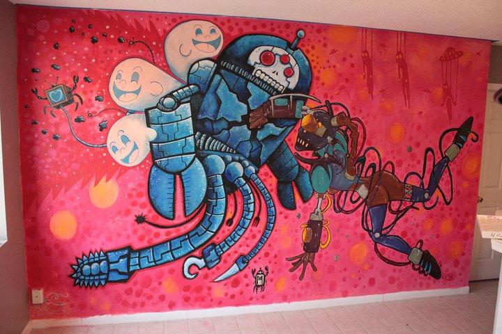 Robotbattle mural final