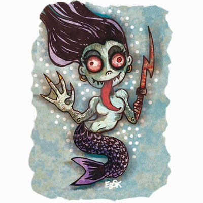 Creepy Mermaid by edbot5000