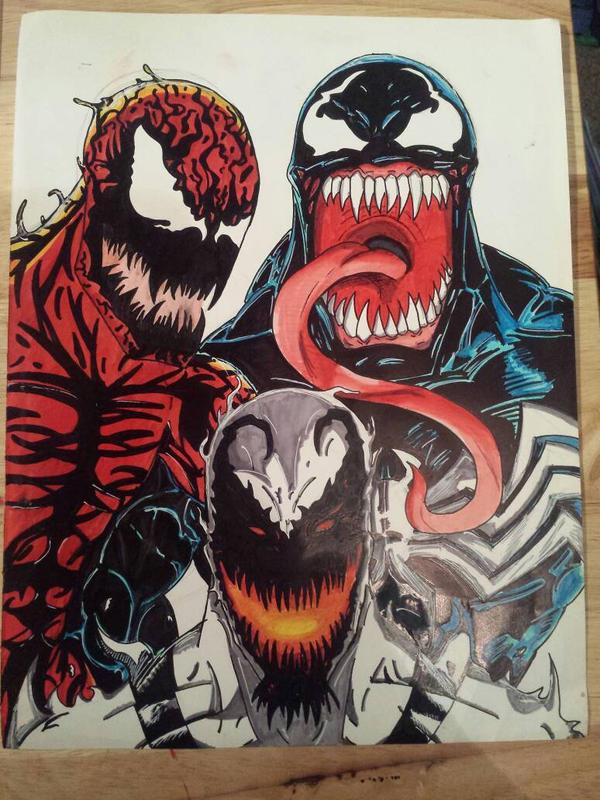 The Symbiotes - Carnage, Venom Anti Venom by CentricDragon ...