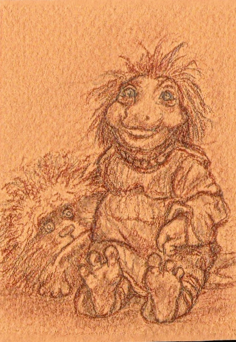 Podling and Fizzgig artcard Finished by tarpalsfan