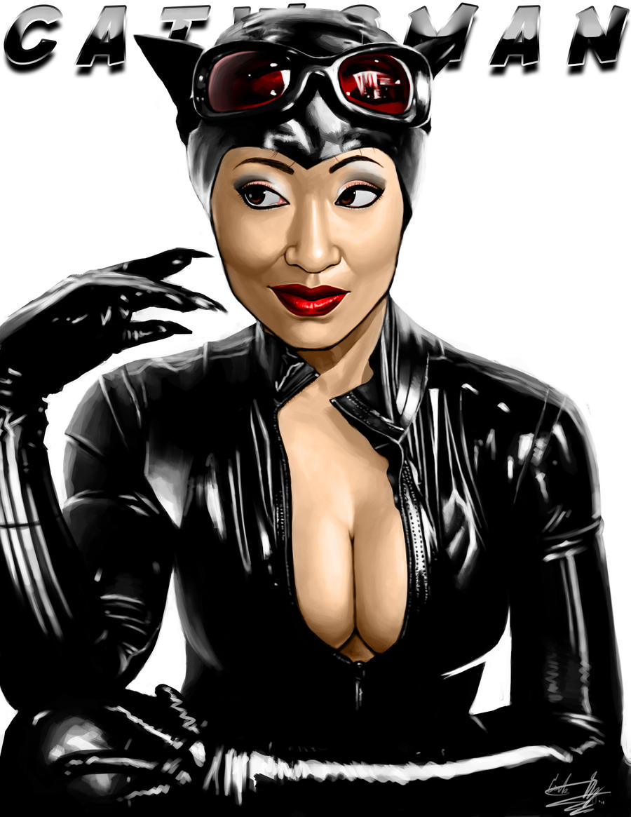 Yaya Han as Catwoman by cortezmaronie