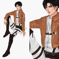 AoT:Captain Levi by valeryvy