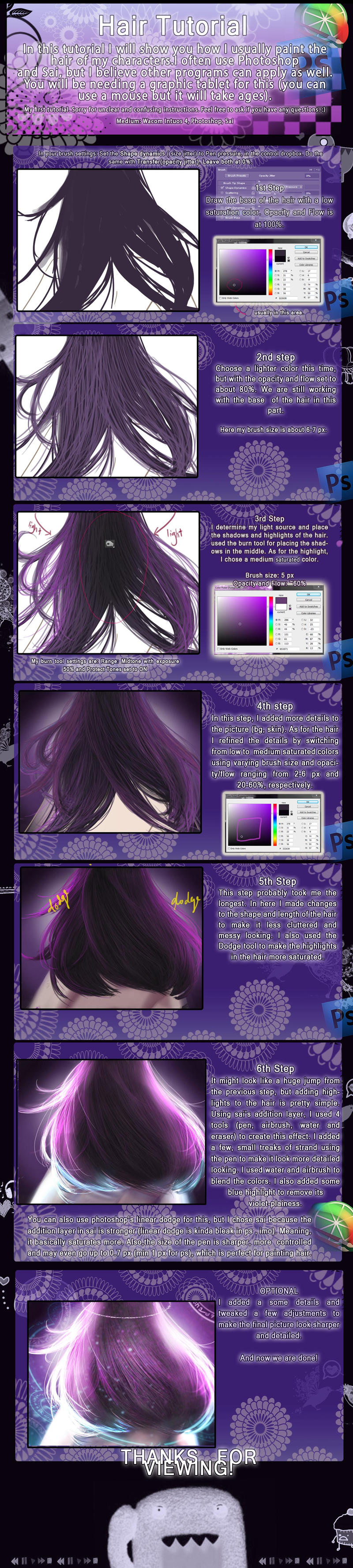 Hair tutorial by ChooeyChoco