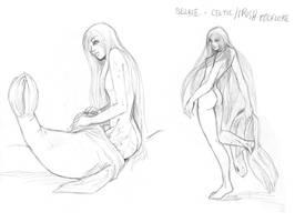 Selkie +Sketches+ by arai-chuusei
