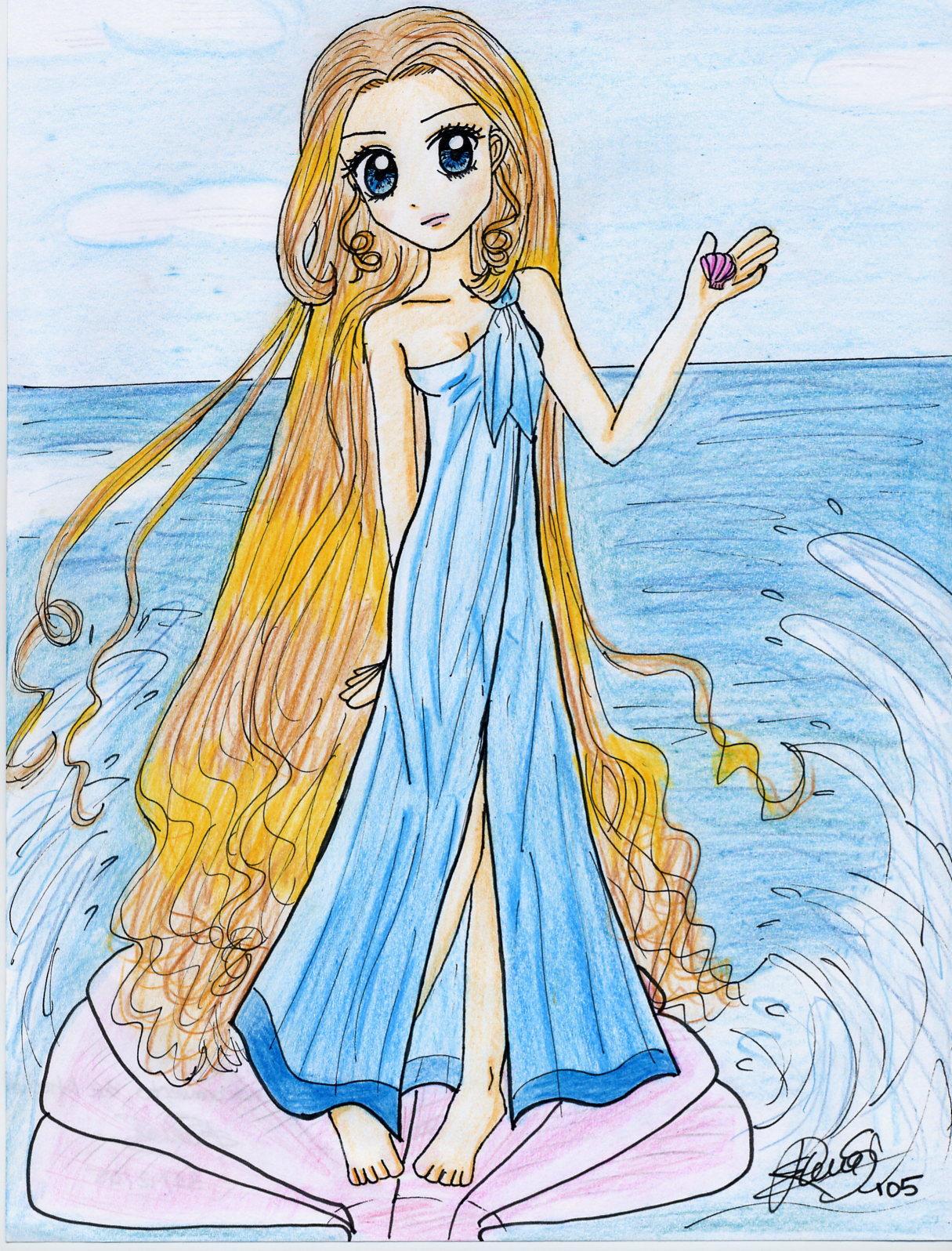 Aphrodite's Birth by ElenaGranger on DeviantArt