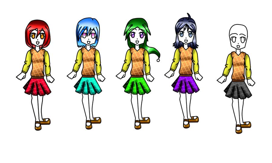 Unifrmes de chicas by Shizumu-chan
