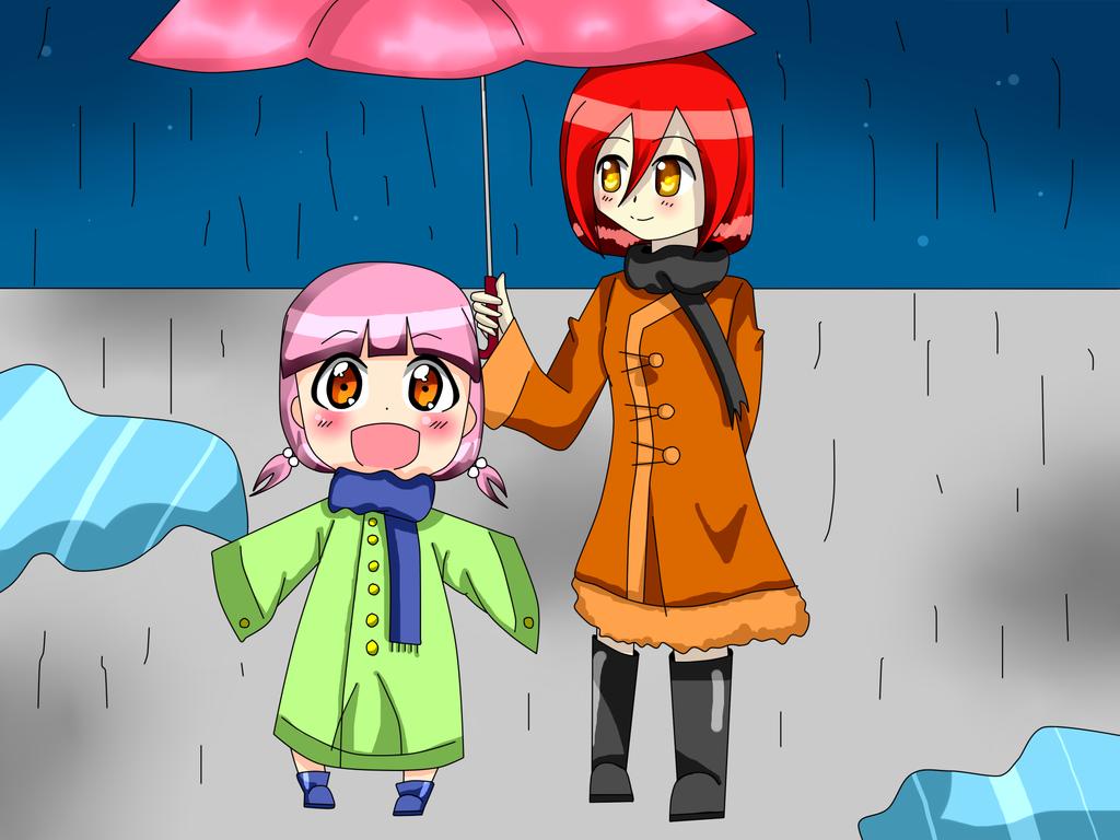 Shizumu y Hana día de lluvia by Shizumu-chan