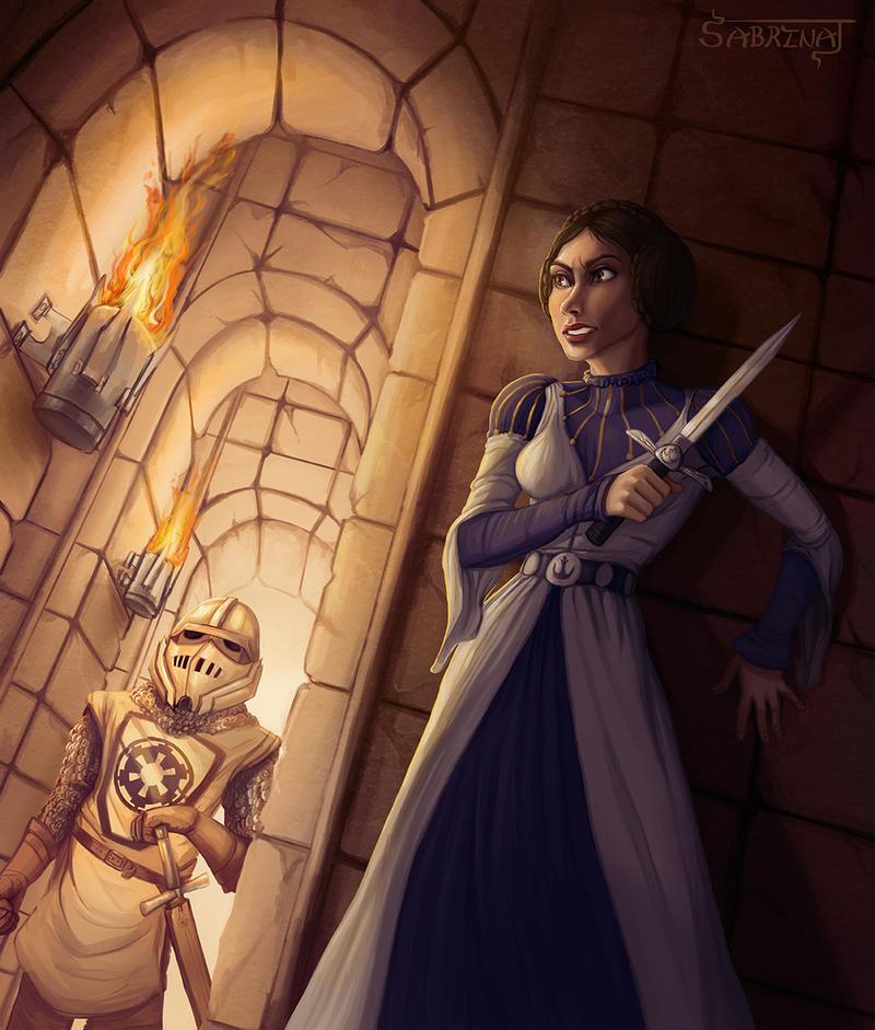 Princess Leia Hides by Aerowan
