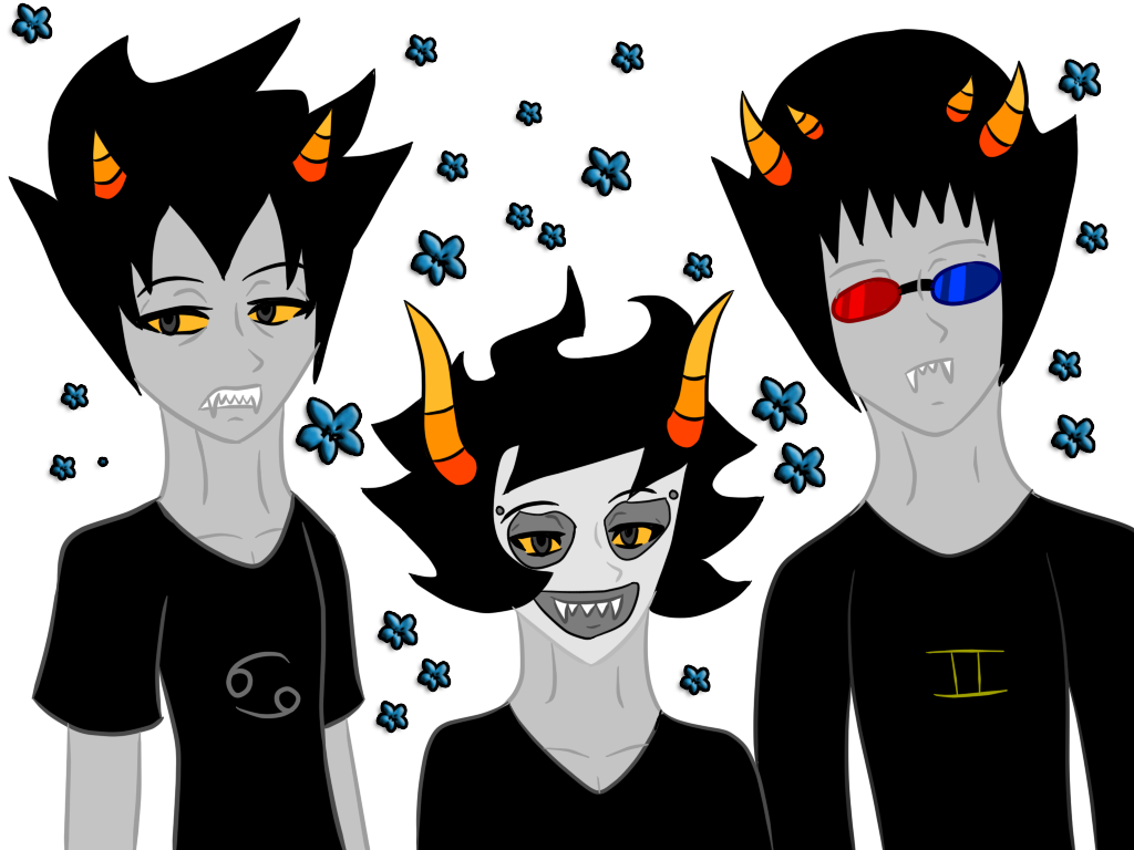 Karkat  Gamzee  and Sollux by xXJuruWolfXxKarkat And Gamzee And Sollux