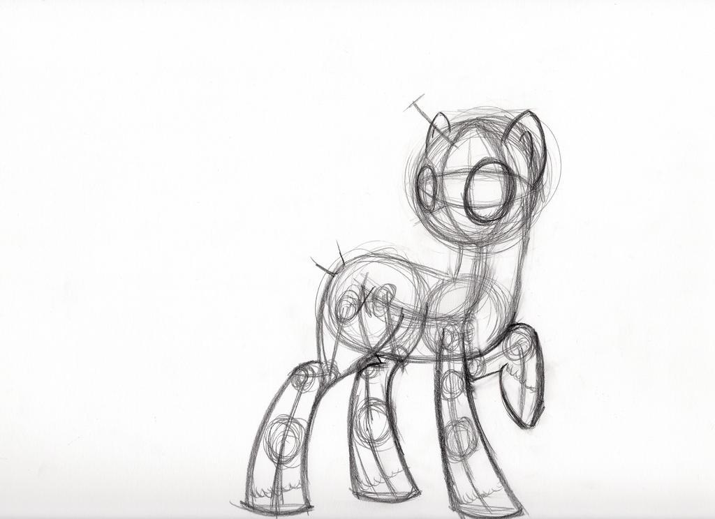 Pony anatomy practice by SeptilSix on DeviantArt
