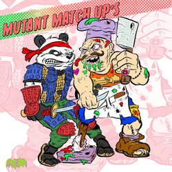 Mutant Match Up's 1 - Panda Khan VS Pizza face
