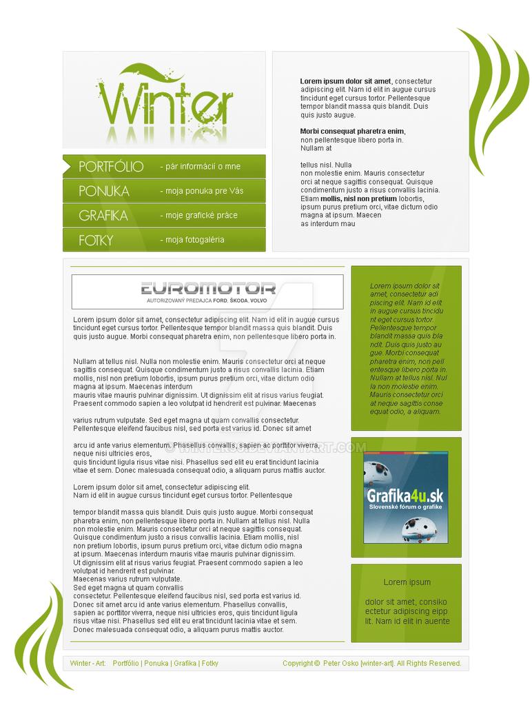 Webdesign Winter-Art by winter99