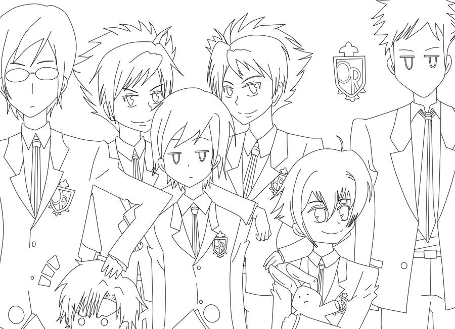ouran highschool coloring pages - photo#16