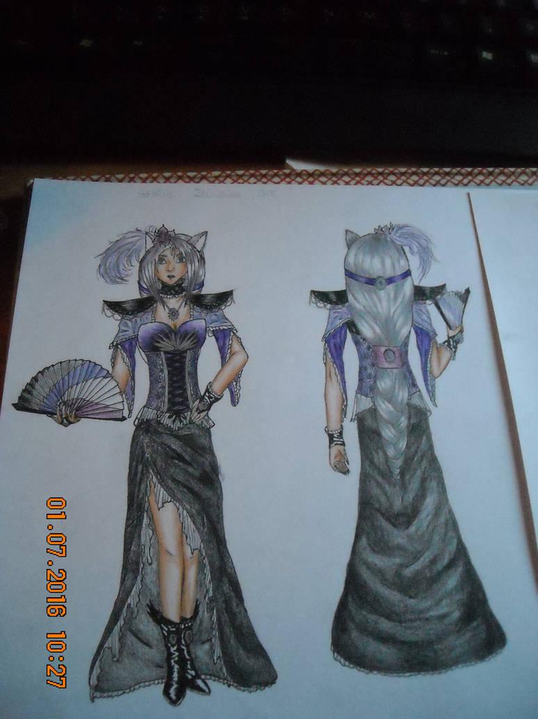 Lycan female fashion, Gothic Illusion Set by Ayumisan19