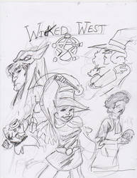 24 hour comic day: Wicked West by claw7705